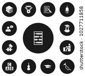 set of 13 editable teach icons. ... | Shutterstock .eps vector #1027711858