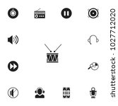 set of 13 editable sound icons. ...