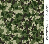 green camouflage seamless... | Shutterstock .eps vector #1027720498