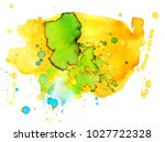colorful abstract watercolor... | Shutterstock .eps vector #1027722328