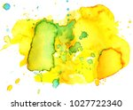 colorful abstract watercolor... | Shutterstock .eps vector #1027722340