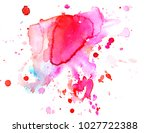 colorful abstract watercolor... | Shutterstock .eps vector #1027722388