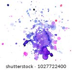 colorful abstract watercolor... | Shutterstock .eps vector #1027722400