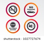 stop smoking and no sound signs.... | Shutterstock .eps vector #1027727674