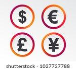 dollar  euro  pound and yen...   Shutterstock .eps vector #1027727788