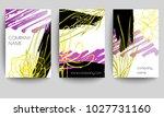 set of brochure  poster... | Shutterstock .eps vector #1027731160