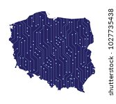 map of poland  high detailed...   Shutterstock .eps vector #1027735438