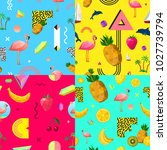 decorative seamless polygonal... | Shutterstock . vector #1027739794