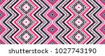 geometric folklore ornament.... | Shutterstock .eps vector #1027743190