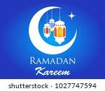 ramadan kareem crescent moon... | Shutterstock .eps vector #1027747594