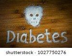 sugar skull inscription... | Shutterstock . vector #1027750276