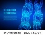 block chain. crypto currency.... | Shutterstock .eps vector #1027751794