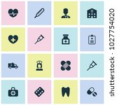 medicine icons set with medic ... | Shutterstock .eps vector #1027754020