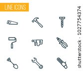 handtools icons line style set... | Shutterstock .eps vector #1027754374