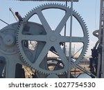metal industrial wheel | Shutterstock . vector #1027754530