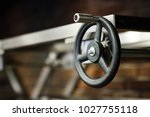 black faucet with handle in the ... | Shutterstock . vector #1027755118