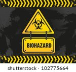 biohazard sign on grunge... | Shutterstock .eps vector #102775664