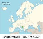 europe map  bosnia and... | Shutterstock .eps vector #1027756660