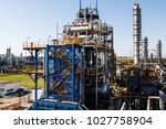 a large oil and gas refinery in ... | Shutterstock . vector #1027758904