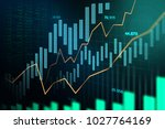 stock market or forex trading... | Shutterstock . vector #1027764169