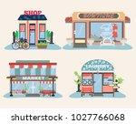set of city public buildings.... | Shutterstock .eps vector #1027766068