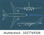 industrial blueprint of... | Shutterstock .eps vector #1027769338