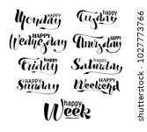 happy week  weekend  monday ... | Shutterstock .eps vector #1027773766