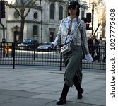Small photo of LONDON, UK- February 16 2018: Betty Bachz on the street during the London Fashion Week
