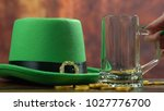 st patrick's day pouring green...   Shutterstock . vector #1027776700