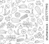 seamless vector pattern with... | Shutterstock .eps vector #1027777993