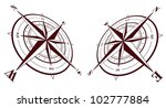 set of compass roses isolated... | Shutterstock .eps vector #102777884