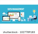 data management  data center ... | Shutterstock .eps vector #1027789183