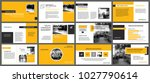 yellow presentation templates... | Shutterstock .eps vector #1027790614