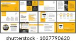 yellow presentation templates... | Shutterstock .eps vector #1027790620