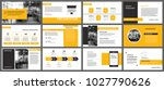 yellow presentation templates... | Shutterstock .eps vector #1027790626