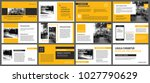 yellow presentation templates... | Shutterstock .eps vector #1027790629