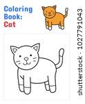 coloring book for children  cat ... | Shutterstock .eps vector #1027791043