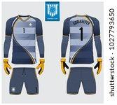 goalkeeper jersey or soccer kit ...   Shutterstock .eps vector #1027793650
