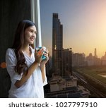 easy lifestyle asian woman... | Shutterstock . vector #1027797910