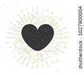 heart symbol hand drawn sketch... | Shutterstock .eps vector #1027800004