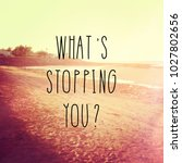 quote   what's stopping you   | Shutterstock . vector #1027802656