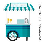 shiny colorful ice cream cart... | Shutterstock .eps vector #1027802968