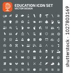 education icon set design | Shutterstock .eps vector #1027803169