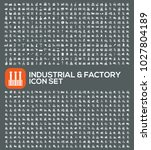 factory and industrial icon set ... | Shutterstock .eps vector #1027804189