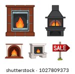 fire  warmth and comfort....   Shutterstock .eps vector #1027809373