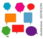 collection of bubble speech pop ... | Shutterstock .eps vector #1027812196