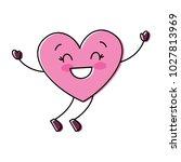 cartoon happy heart love... | Shutterstock .eps vector #1027813969