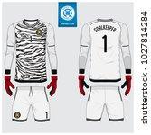 goalkeeper jersey or soccer kit ...   Shutterstock .eps vector #1027814284