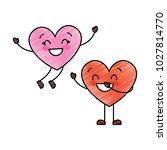 couple happy hearts in love... | Shutterstock .eps vector #1027814770