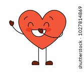 cute cartoon heart love smiling ... | Shutterstock .eps vector #1027814869